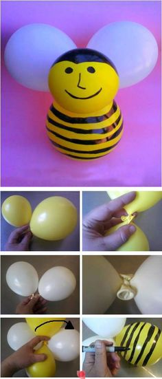 Make a bee balloon for kids party