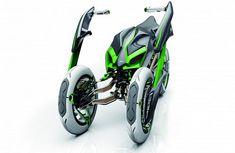 Futuristic Kawasaki J Concept Bike
