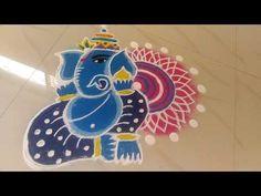 Rangoli And Art: Ganesha Rangoli Ganesh Chaturti Special Rangoli by. Ganesha Rangoli, Diwali Rangoli, Special Rangoli, Rangoli Ideas, Beautiful Rangoli Designs, Our Solar System, New Year 2020, My Images, Hands