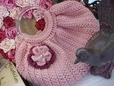 Crocheted Purse in Pink