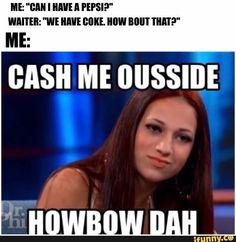 CASH ME OUTSIDE HOW BOW DAH MEME FUNNY HUMOR LOL Mens Black Hoodie