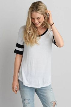 AEO Football Jegging T-Shirt  by AEO   (XL)