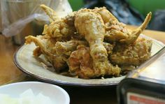 Korean Fried Chicken. A whole chicken tossed in a sweet soy sauce.
