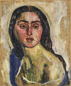 'Portrait de Letizia Raviola' (1917) by Ferdinand Hodler