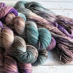 Fingering Siren Song, hand dyed yarn