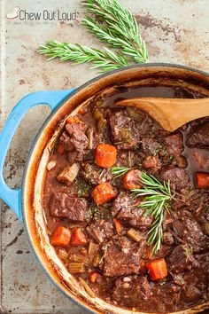 Tuscan Beef Stew. Superbly tender. Ultra flavorful. Can be made 1-2 days ahead. Even better that way! - Chew Out Loud Full recipe