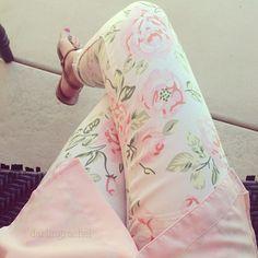 ♡ floral pants ♡