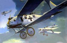 1916 Roland C.II Walfisch - Steve Anderson - box art Wingnut Wings