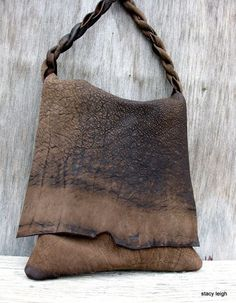 Rustic Chocolate Brown Leather Bag with Character by door stacyleigh Leather Purses, Leather Handbags, Leather Bags, Leather Totes, Leather Backpacks, My Bags, Purses And Bags, Fashion Bags, Fashion Accessories