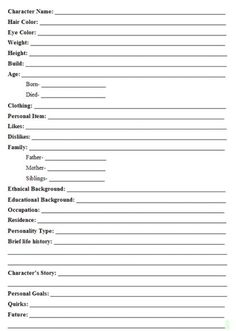 A handy character guide to fill out at your convenience.