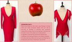 "Red  ""arrogant"" dress transformed into a swimsuit"
