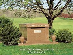West Memorials - one person, single drawer mausoleum in red granite with vases 2017 Design, Design Development, Beautiful Birds, Granite, Floral Arrangements, Hand Carved, Memories, Outdoor Decor, Pictures