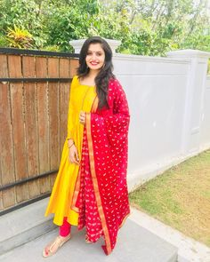The Prettiest Anarkalis & Gowns You Will Ever See - The Handmade Crafts Indian Gowns Dresses, Indian Fashion Dresses, Dress Indian Style, Indian Designer Outfits, Simple Kurta Designs, Half Saree Designs, Kurta Designs Women, Salwar Designs, Dress Designs