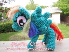 Rainbow Dash crochet PDF pattern by OhanaCraftAmigurumi on Etsy, $6.00