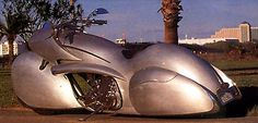 Arlen Ness build this motorcycle, inspired by the Bugatti Atlantic