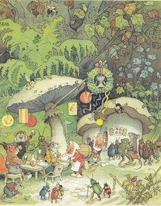 https://flic.kr/p/anRrXU | Erich Heinemann / Wichtelhausen / Bild 27 | Erich Heinemann / Wichtelhausen Märchenbuch Bilder: Fritz Baumgarten Carl Werner Verlag (Reichenbach i. V./Deutschland; 1946) ex libris MTP