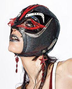 "Manuela Frey in ""Wrestle Mania"" by Richard Burbridge for Dazed & Confused, Spring 2015"