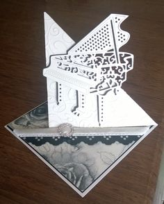 My first card finished with Tattered Lace Piano