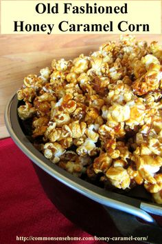 Old Fashioned Honey Caramel Corn Recipe - This homemade honey caramel corn is light, buttery and delicious.