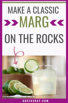 A classic Margarita on the Rocks is a cocktail that everyone should know. It's simple, but elegant and impressive. Plus, it has wide appeal. This easy drink recipe is sure to impress everyone you know. Plus it makes enough for a crowd. It's a great wedding cocktail, too.