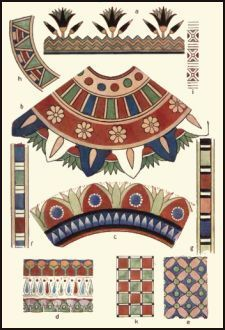 Ancient Egyptian Decorative Ornament  Egyptian coloring pages and clip art: fashion-era.com/ancient_costume