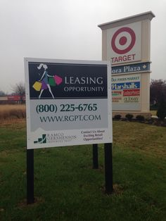 Leasing Sign: Looking for New Stores: 1300 E.86th Street, Indianapolis, Indiana 46240. Nora Plaza Shopping Center,