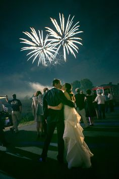Forget the sparklers... have fireworks! See this wedding on SMP: http://www.stylemepretty.com/2013/06/07/ohio-wedding-from-heather-waraksa/  Photography: Heather Waraksa