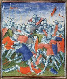 The_battle_of_Auray - ten facet na ziemi chyba nie ma głowy? nawet jej nigdzie nie widać. Ktoś złapał i uciekł?