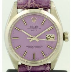 1961 Datejust Rolex with original custom painted purple dial