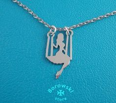 FREE SHIPPING Girl on a swing pendant necklace от BorowskiStore