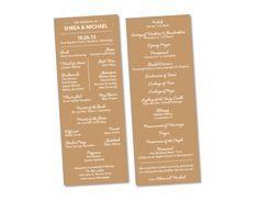 White On Cork Board Baptist Wedding Program