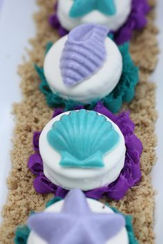Little Mermaid Party Chocolate Covered Oreos