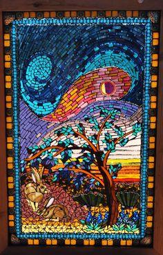 Kathleen Dalrymple - Glass Artist: Seeking Shelter - large mosaic stained glass window