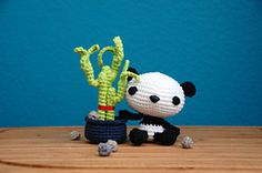 Ravelry: Baby Panda and his Lucky Bamboo pattern by Josephine Wu