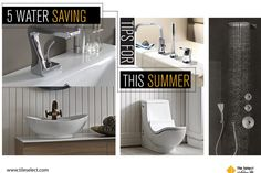 5 water saving tips for this summer! Install a high-efficiency toilet. Check all faucets, pipes, and toilets periodically for leaks. Take shorter showers. Turn off the water while shaving, brushing teeth, etc Water Saving Tips, Water Saving Shower Head, Save Water, Brushing, Toilets, Faucets, Shower Heads, Pipes, Shaving