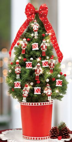 Christmas nutcracker decorated tree