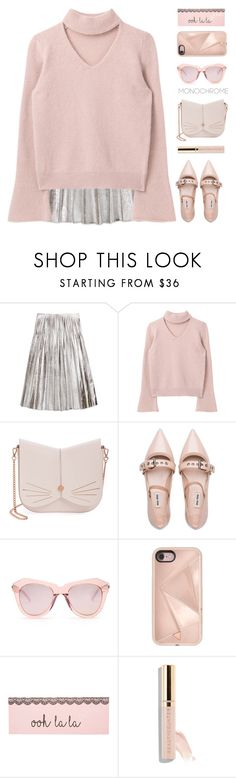 """""""~Color me Pretty: Head to Toe Pink~"""" by amethyst0818 ❤ liked on Polyvore featuring Gucci, Ted Baker, Miu Miu, Karen Walker, Rebecca Minkoff and Beautycounter"""