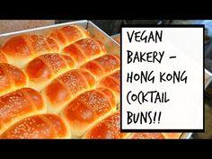 VEGAN CHINESE BAKERY - HONG KONG COCKTAIL BUNS!! (雞尾飽)   GAI MEI BAO