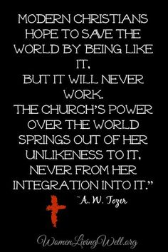 Tozer quote. Links to an article on why women are not supposed to ...