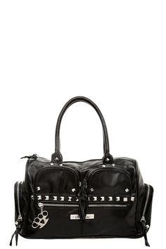 Rock Rebel - Black Pyramid Stud Cargo Satchel | Handbags #IAmTorrid