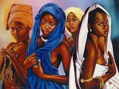 African American Women Art | It's A Black Thang.com - Alix Beaujour Art work - African American Art
