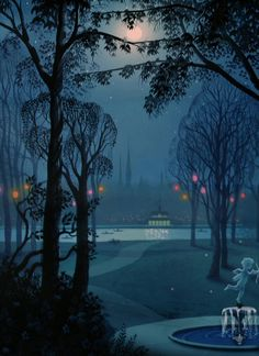 Lady And The Tramp. Animation Backgrounds.