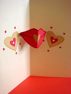 AZLINA ABDUL: Pop up lips with hearts