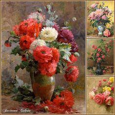 Vasos florais - Pintura