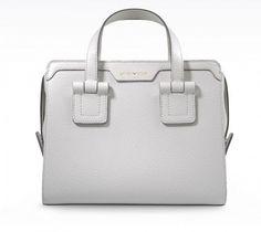 Dalla collezione di borse Emporio Armani per la primavera estate 2014, bauletto - #bags #bag #armani #white