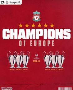 The Sixth Champions Of Europe. Liverpool Kop, Liverpool Life, Salah Liverpool, Liverpool Football Club, Liverpool Fc Wallpaper, Liverpool Wallpapers, Uefa Champions League, Uefa Football, Premier League Winners