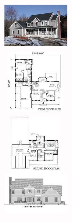 Colonial Style COOL House Plan ID: chp-27933 | Total Living Area: 3605 sq. ft., 4 bedrooms and 3.5 bathrooms. #colonialhome