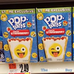SPOTTED ON SHELVES: Store Exclusive Emoji Frosted Strawberry Pop-Tarts