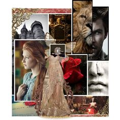 Beauty and the Beast by asktheravens on Polyvore featuring art