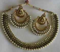 chand bali ram leela necklace set